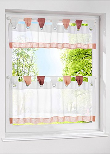 LivebyCare 1pcs Window Curtain Tier and Valance Tab Top Semi Sheer Window Treatment Voile Drape Drapery Panels for Family Room Decor Decorative