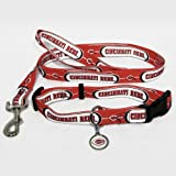 HUNTER Cincinnati Reds Pet Collar (Lead and ID Tag Combo Set), Medium