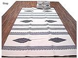 6' X 9' Flat Weave Kilim Area Rug + 2 Pillows Set