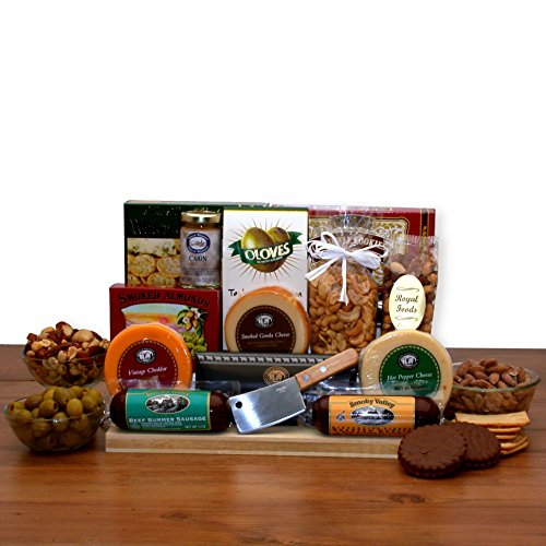 - All Occasion Gift Ultimate Gourmet Nut & Sausage Board Gift For Him