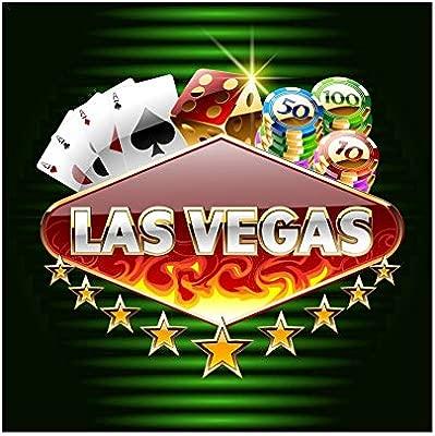 OERJU 2x2m Casino Fondo Brillante Las Vegas Tablero de luz ...