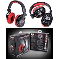 DJTECH EDJ500RED Professional DJ Headphones