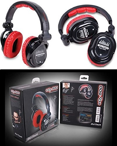 djtech edj500red profesional auriculares de DJ