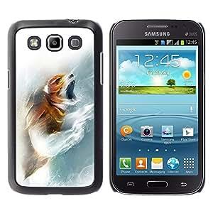 COVERO Samsung Galaxy Win I8550 I8552 Grand Quattro / Fox Roar / Prima Delgada SLIM Casa Carcasa Funda Case Bandera Cover Armor Shell PC / Aliminium