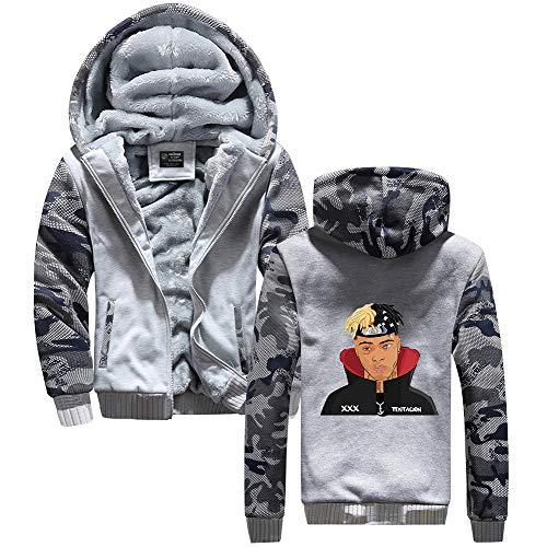 Hoodie Homme Zip Xxxtentacion Capuche Logo Cosplay Up Épaissir Veste Vêtements Anime Unisexe Grey11 D'hiver dwXzqWwP