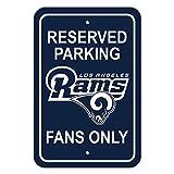 Fremont Die NFL Los Angeles Rams Unisex Plastic Parking Sign - Reserved Parkingplastic Parking Sign - Reserved Parking, Blue, One Size