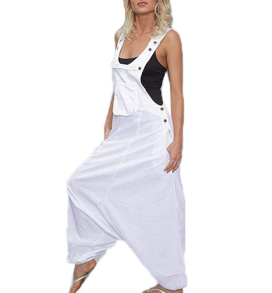 Tuta Intera da Gamba per Ragazzo Keepmore Tuta da Donna di Harem Pants Irregolare Allentato da Donna