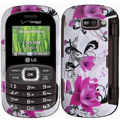 Design Crystal Hard Case for LG Octane VN530 - Purple Lily