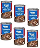 Great Value French Onion with Beef Stock Canned Soup, 10.5 oz, Pack of 6