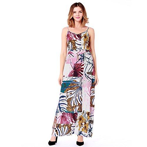 M 2018 Sling Donna Elegant B Printed Summer FFLLAS Da Fashion Dress SZvZF