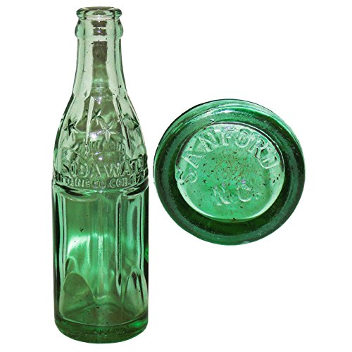 Green Coca-Cola Soda Water Bottle 1923 with Stars