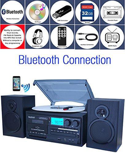 turntable cassette cd recorder - 8