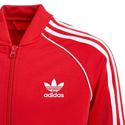 roja escarl Bj8930 o ni Adidas Sudadera para qYa8d