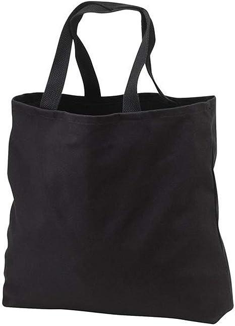 Heavy Cotton Denim Convention Reusable Tote Bag (Black