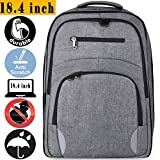 50L Travel Laptop Backpack with USB Charging Port Water Resistant College School Computer