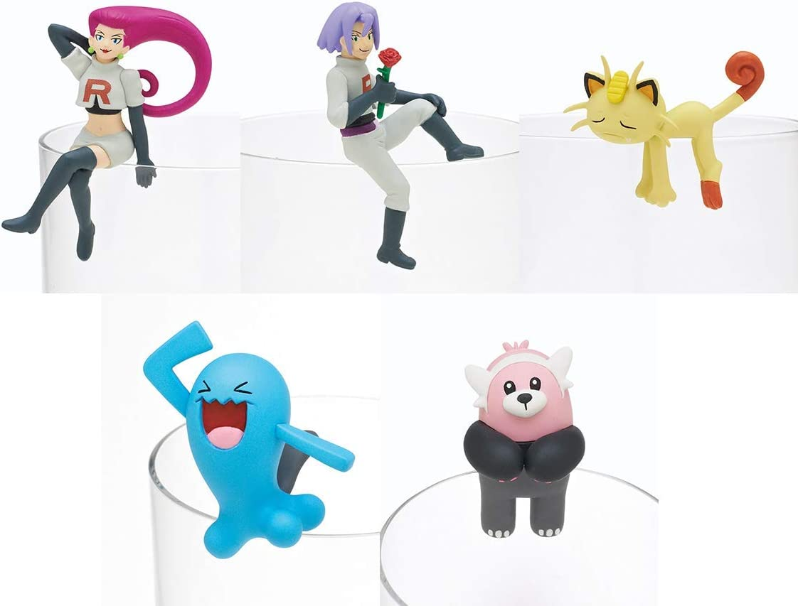 Kitan club Pokemon Sun & Moon PUTITTO Team Rocket Gashapon 5 set ...