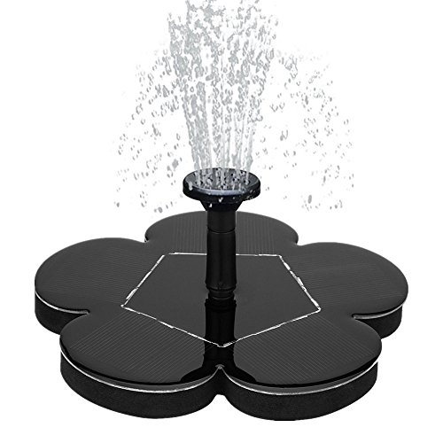 Kiorc Solar Power Bird Bath Fountain Water Floating Small Pond Garden Patio Decoration ()
