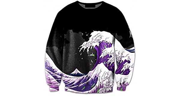 Amazon.com: 3D Sweatshirt Men O-Neck Longsleeve Harajuku Style Wave 3D Print Pullover Hot Autumn Fitness Tops Plus Size 5XL 1 XL: Clothing