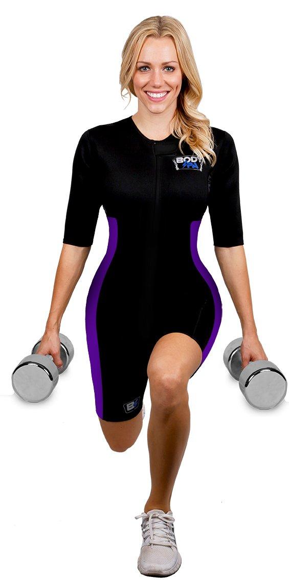 Sauna Suit Neoprene Weight Loss Gym Sport Aerobic Boxing MMA (Purple, Small) 13930