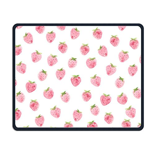 Little Pink Strawberry Personalized Computer Decorated Mouse Pad With 25X30CM