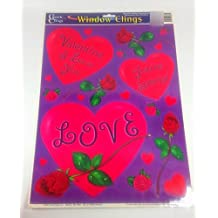 I Love You Youre Special Love Hearts and Roses Valentines Window Clings