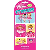 Peaceable Kingdom Ballerina Lenticular Sticker Pack - Flicker Stickers