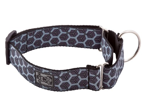 RC Pet Products 1-1/2-Inch All Webbing Martingale Dog Collar, Small, Hexacomb