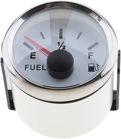 Homyl 52mm Manom/ètre Jauge de Pression de Carburant Huile Imperm/éable Pi/èce Bateau Yatch Chrome Blanc