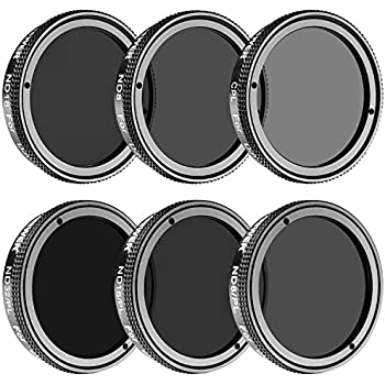 Neewer 6 Pieces Filter Kit for DJI Phantom 4, DJI Phantom 3 Advanced and Professional, Multi-coated, High Definition Glass and Aluminum Frame Filters Include: CPL, ND8, ND16, ND8/PL, ND16/PL, ND32/PL