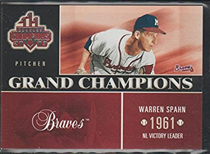 2003 Donruss Champions Warren Spahn Braves Grand Champions Baseball