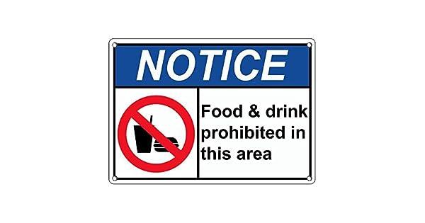 Amazon.com: De plástico resistente ANSI aviso para comida y ...