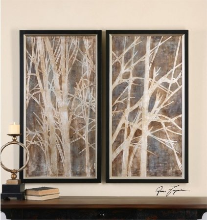 Uttermost 41543 Twigs Hand Painted Art44; Set of 2