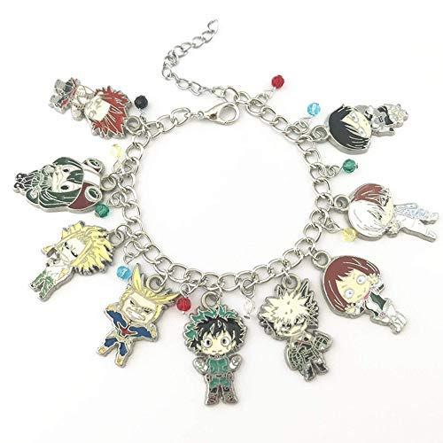WinVI My Hero Academia Metal Charm Bracelet Cosplay -