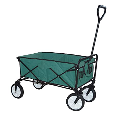 UISEBRT - Carro Plegable para jardín, con Frenos, Ruedas Delanteras giratorias 360º, Ohne