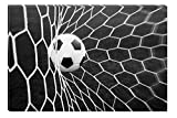 Inspirational Art Black and White Soccer Ball Canvas Wall Art Abstract Picture Eco Light Framed Ready to Hang Artwork for Home Decoration