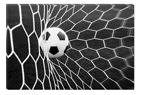 Inspirational Art Black and White Soccer Ball Canvas Wall Art Abstract Picture Eco Light Framed Ready to Hang Artwork for Home Decoration by Inspirational Art