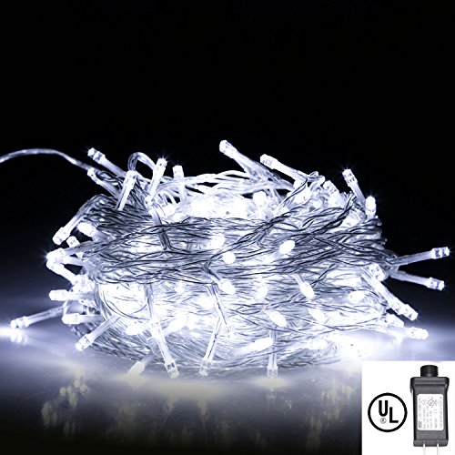 White Led Christmas Tree Lights With White Cord in US - 4