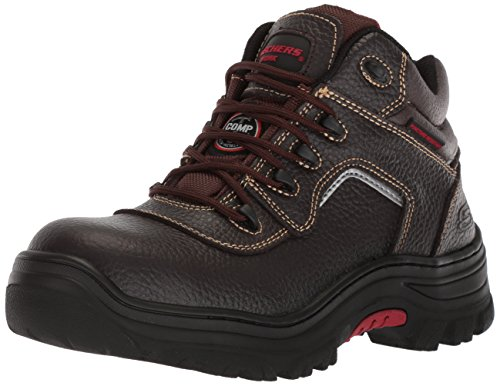 Skechers for Work Men's Burgin-Sosder Industrial Boot,brown embossed leather,11.5 M US