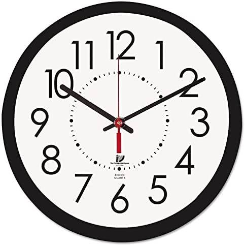 5COU Chicago Lighthouse 67801103 Electric Contemporary Clock, 14-1 2-Inch, Black