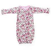 Kaiya Angel Baby Sleeping Bag Infant Girl Sleep Wear Cotton Ruffle Floral Raglan, Pink Floral, Newborn