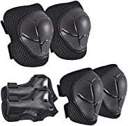 Kids Knee Pads Elbow Pads Guards for Skating Cycling Bike Rollerblading Scooter,3 in 1 Kids Protective Gear fo