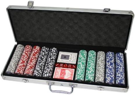 Huangguan MH161144 - Professionelles Poker-Set, schwarz