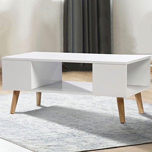 Table basse pas cher scandinave bois blanc