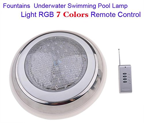 Swimming Pool LED Lights, 12V 7 Colors Fountains Lamp Underwater Swimming Pool Light with Remote Control by rateim