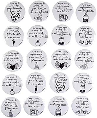Mr. Wonderful WOM02800 Pack 20 xapes Brillo byn Superpoders casaments (catalana), Compuesto, Multicolor, 14.1x13x2.2000000000000002 cm: Amazon.es: Hogar