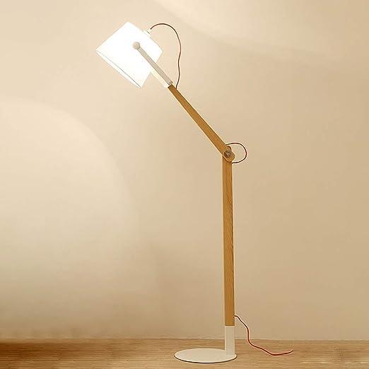 Lámpara de pie de Madera con Brazo Ajustable, luz de Oficina ...
