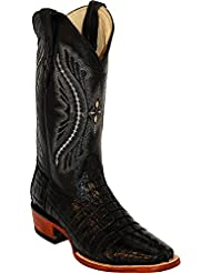 Ferrini Mens Caiman Croc Tail Sq Boots