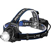 wangcai 3 Modes LED Headlamp with Rechargeable Batteries