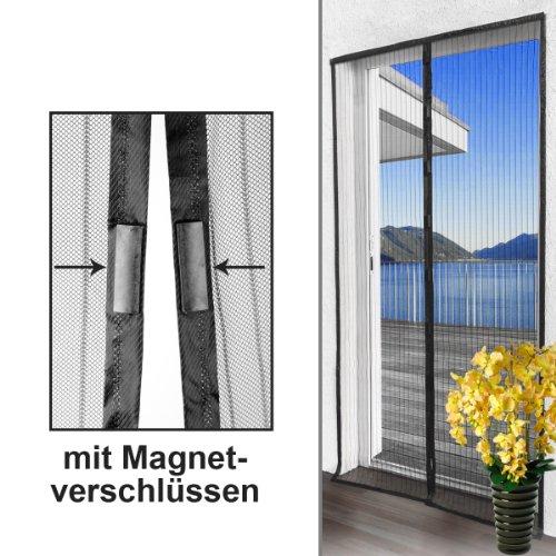 Insektenschutzvorhang / Moskitonetz mit Magnetverschluss ca. 210cm x 100cm