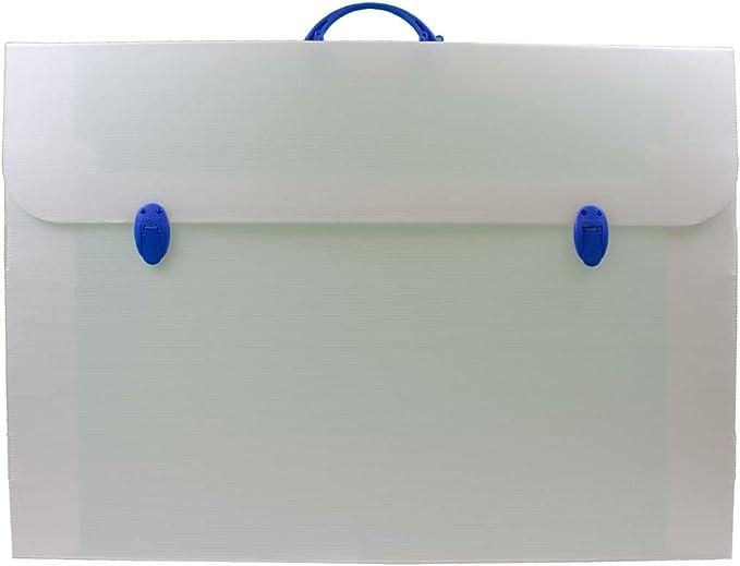 Formato 53 x 75 x 3 cm in Polipropilene con Zip e Comoda Tracolla Balmar 2000 PF14284//Z Valigetta B-Office Nero